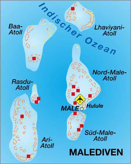 Seychellen Malediven Karte.Malediven Atolle